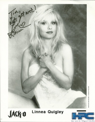 Signed Linnea Quigley Photo