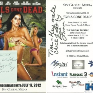 "Linnea Quigley Signed ""Girls Gone Dead"" Movie Card"