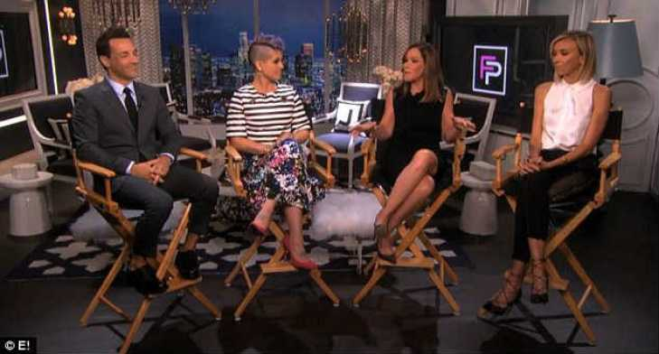 First appearance: Melissa Rivers (second right) came on Fashion Police to talk about all the peoplpe her late mother had touched