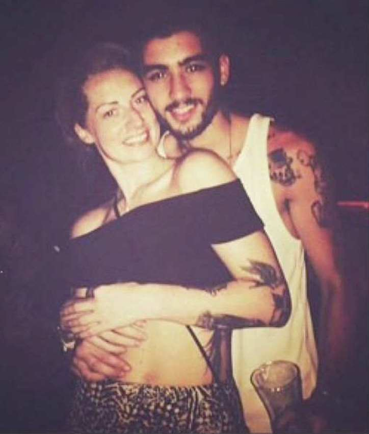 One Direction's Zayn Malik with Lauren Rich
