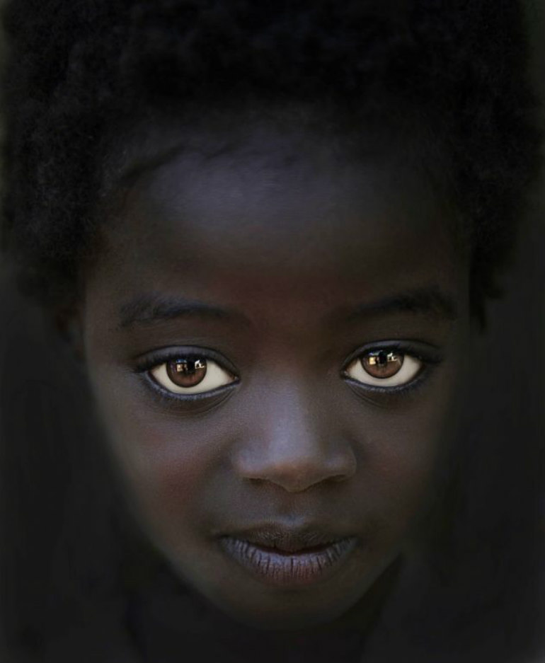 世界で最も美しい茶色の瞳