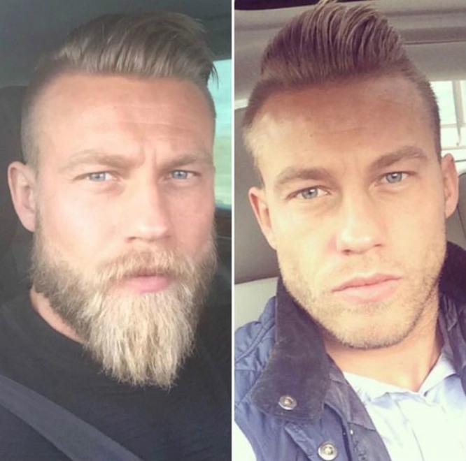 髭生やすと別人
