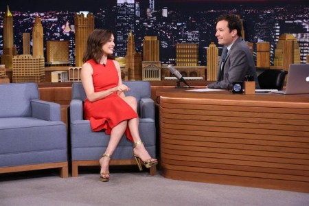 Jimmy Fallon with Rachel Weisz.