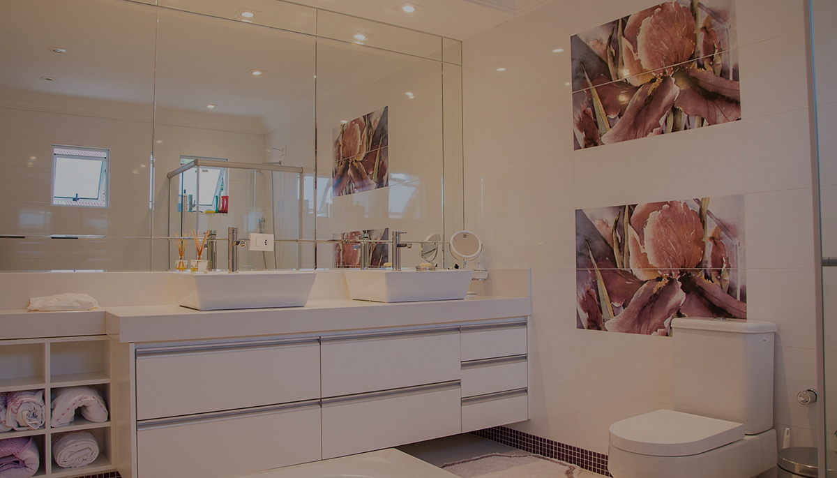 Bathroom with sinks and toilet