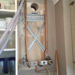 Flue and boiler install
