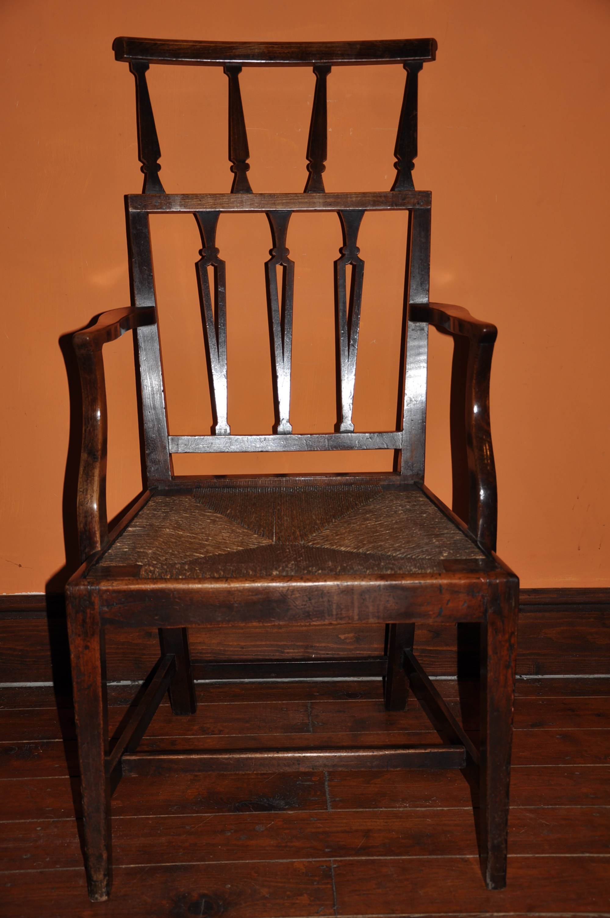cherry wood chairs crate and barrel village chair arm holmes antiques