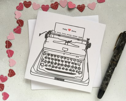 Personalised love letter card