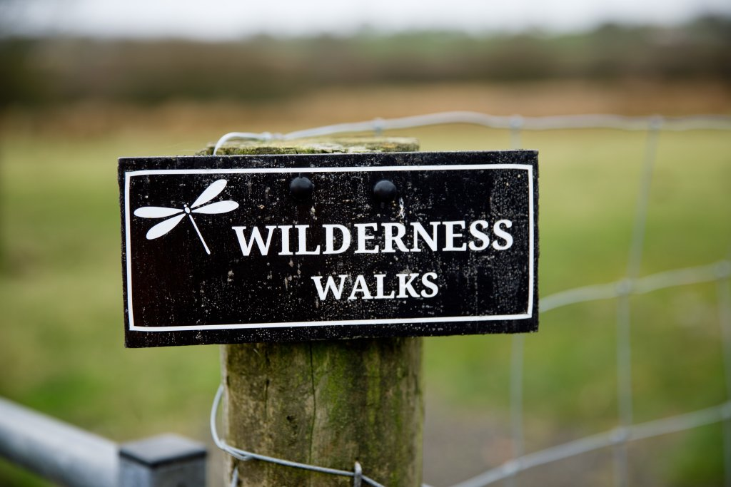 Wilderness walks sign