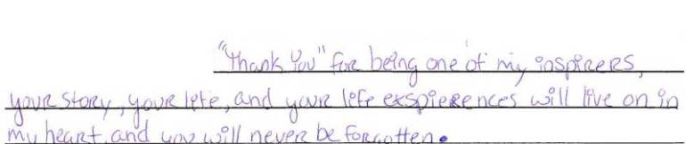 student letter 5