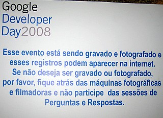Google Developer Day 2008 - São Paulo - Brasil