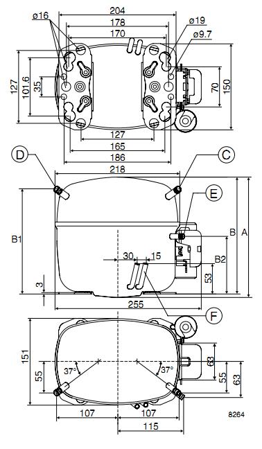 Компрессор SC18G R134a (LBP/MBP/HBP) (пром.уп.)