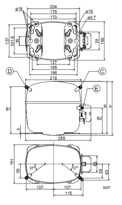 Компрессор SC21CL R404a (LBP) (пром.уп.)