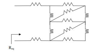 For the circuit shown in the Fig. find the equivalent