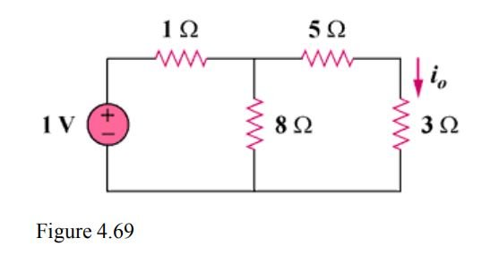Calculate the current i_{ 0 } in the circuit of Fig. 4.69
