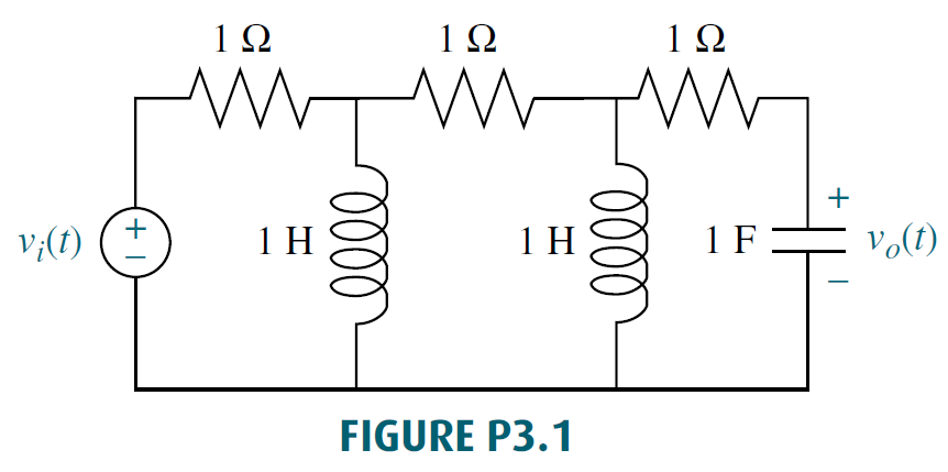 Represent the electrical network shown in Figure P3.1 in