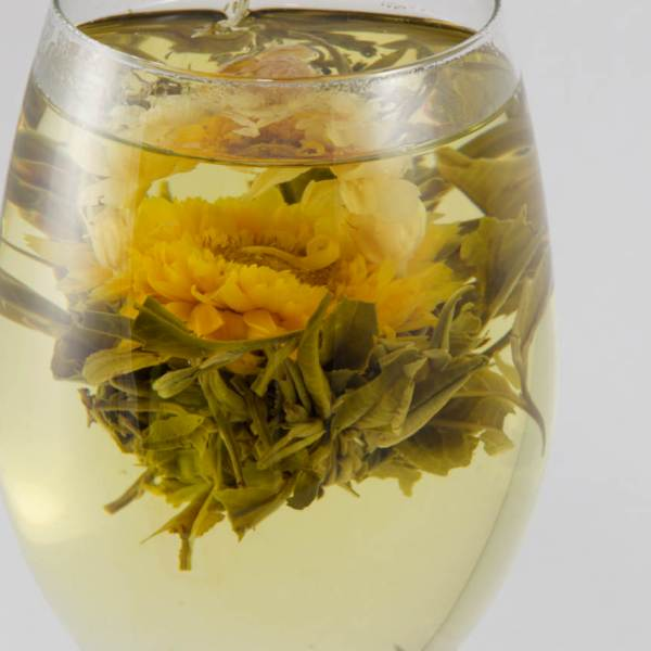 blooming tea balls Capella 3x, Tea,flowers tea, organic tea, white tea, Flowering tea, aromatic tea, tea gift for her, girlfriend gift