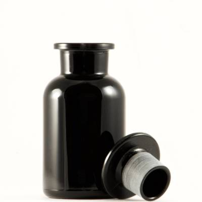 Black jar, Miron Violet Glass Apothecary Jar 250ml, black apothecary jar, jars, containers, apothecary jar, glass jar, candy buffet jar