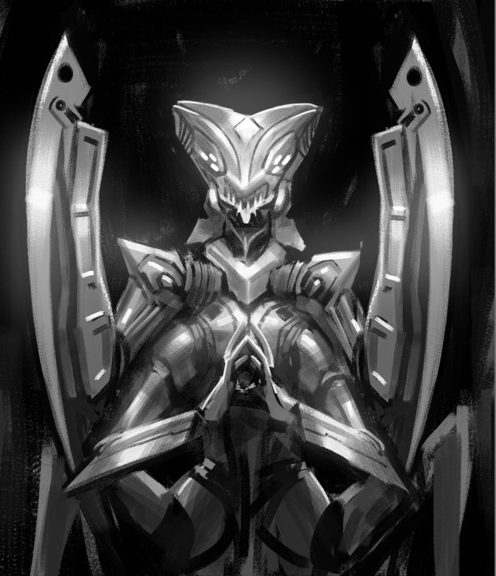 Time Reavers Mantis rough sketch 2