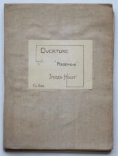 Overture 'Persephone' for orchestra (1929) [Copyright Holst Foundation]