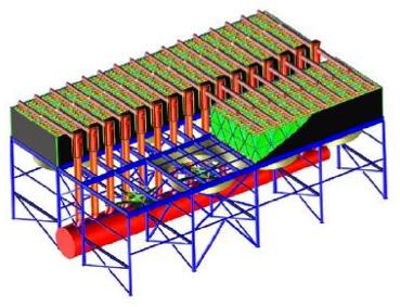 HI-VACC 140 MWe Steam Turbine 100 ft x 200 ft; Total Footprint Area = 20,000 sq ft.