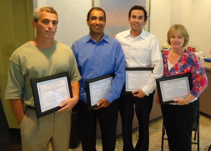 From Left to Right: Mr. Mark Soler, Mr. Pankaj Chaudhary, Mr. Nick Abraczinskas, Ms. Joy Russell