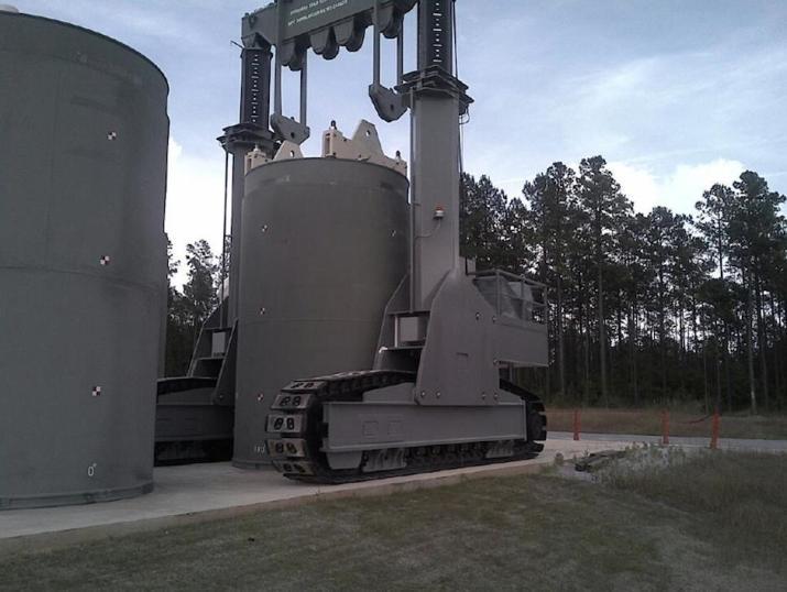The New Generation Vertical Cask Transporter (HI‐LIFT) Positioned Over a HI‐STORM 100 Cask