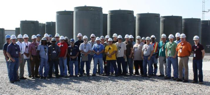 SNC's Plant Farley Used Fuel Loading Outage Dry Cask Loading Team