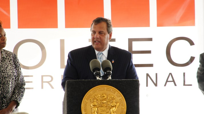 Governor Christie Speaking at the Monday Press Conference
