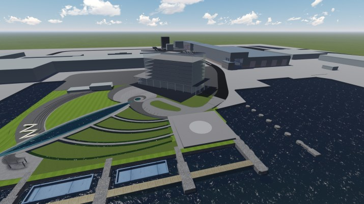 3D aerial view of the Holtec Technology Campus in Camden, NJ