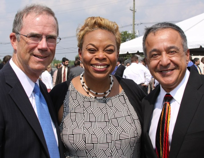 From left to right: Mr. William Levis, Mayor Dana Redd, Mr. Pierre Oneid