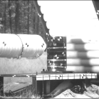 High Speed Photograph of Missile Approaching the Cask at 888 Ft/Sec Just Prior to Impact