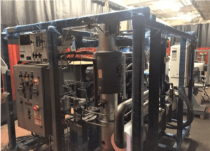 Main Skid of the Forced Helium Dehydrator (FHD)