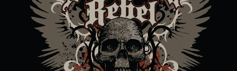 American Rebel Winged Skull Design