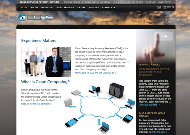CCAS site home page