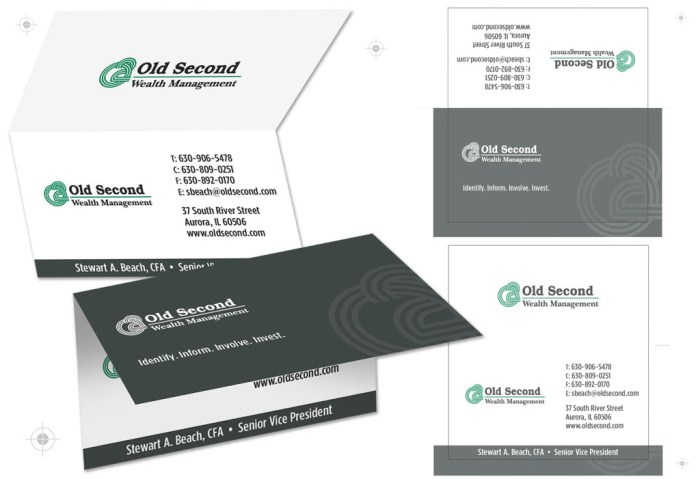 Old Second business card designs