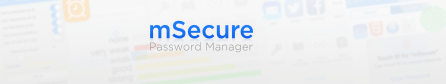 mSecure App Store banner design, light, text-only