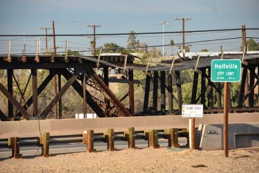 Alamo River Railroad Bridge, Holtville CA