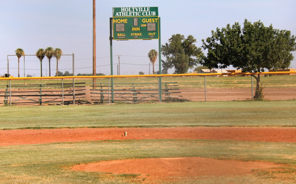 Mack Park current baseball diamond in Holtville, Aug. 2, that will soon have a neighboring field supported by a Statewide Park Program Application grant.