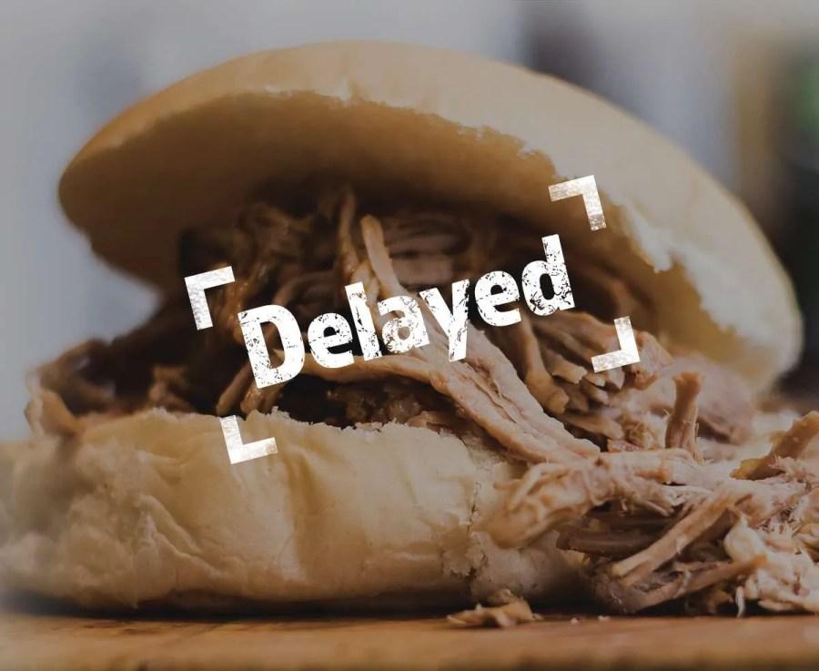 Pulled Pork Cookoff Delayed