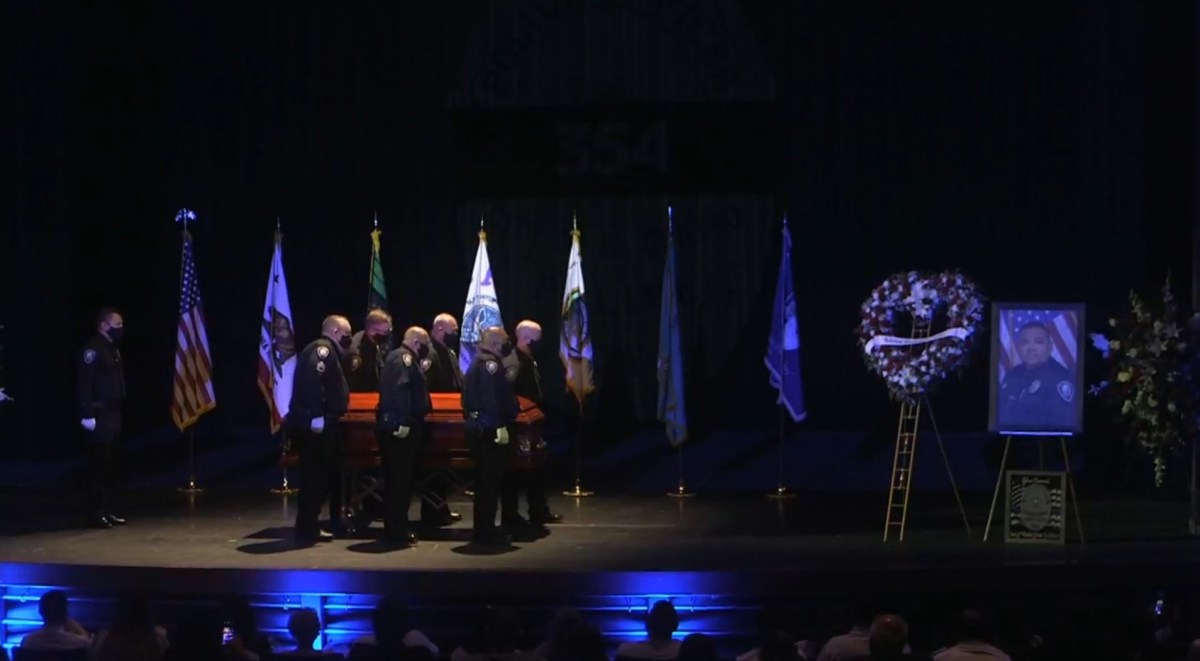 A Community Honors ECPD Officer Efren Coronel, A Victim of COVID in the Line of Duty