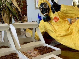 Hazmat Bakery Delivers Doughnuts During Distress