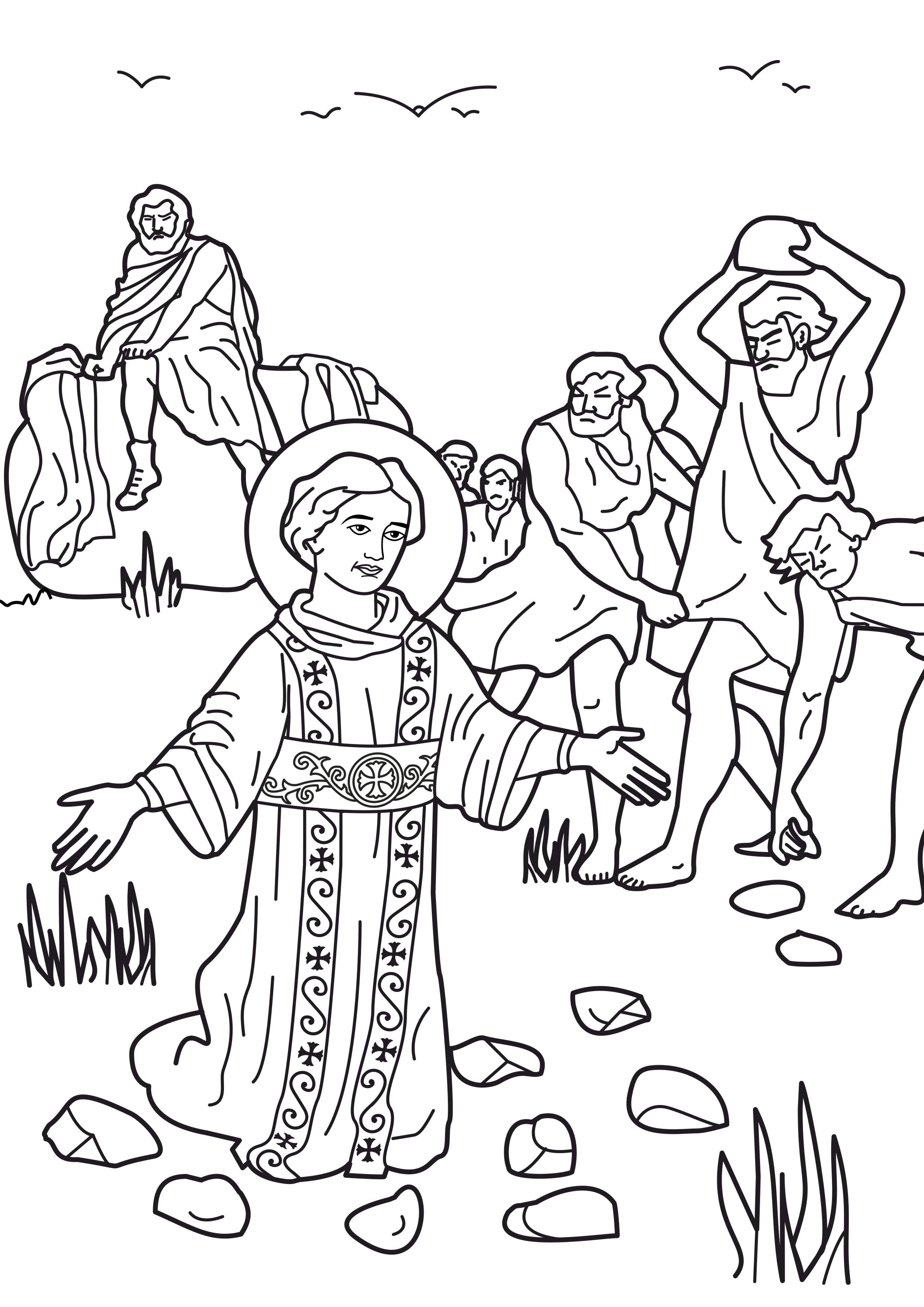 Familia Católica: Santos: Hermosas páginas para colorear