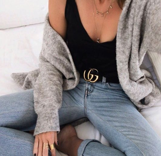 Belt style with jeans