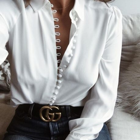Belt style with blouse