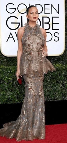 Chrissy Teigen Golden Globes