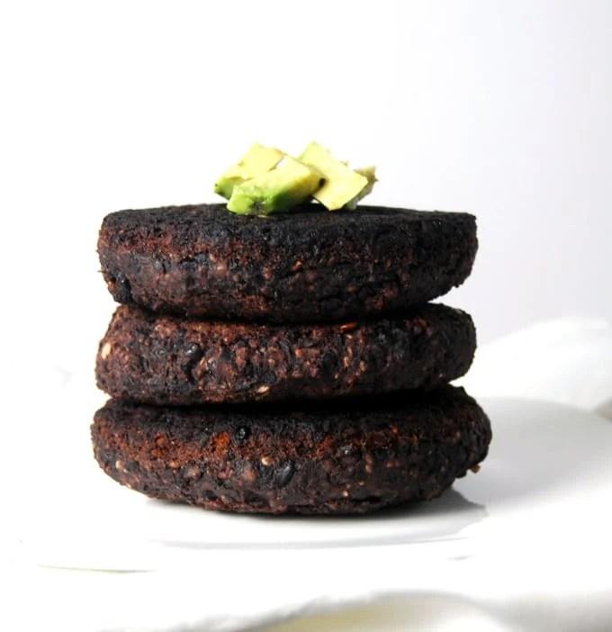 Black Bean Black Rice Veggie Burger