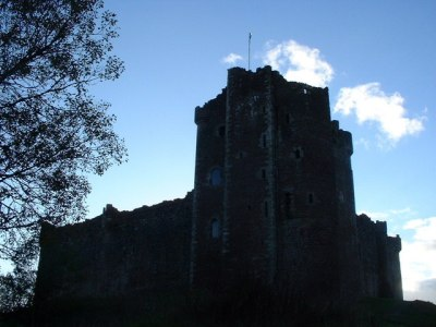 "A castle against the skyline - the one used as ""Castle Anthrax"" in Monty Python and the Holy Grail."