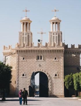 Photo: Shangyun Shen, grand gate of the Monastery of Dayr al-Muharraq..