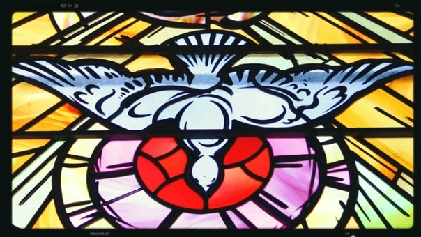 holy spirit healing, dove stained glass