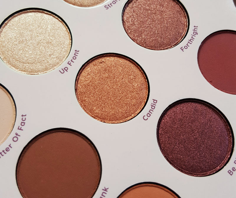 Zoom macro de la nouvelle palette de Colour pop give it ti me straight